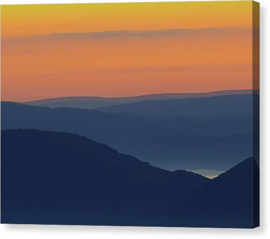 Allegheny Mountain Morning Canvas Print