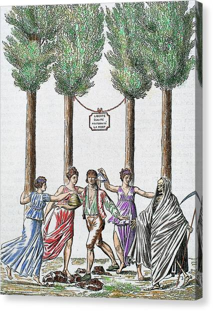 Fraternity Canvas Print - Allegory Of The French Revolution by Prisma Archivo