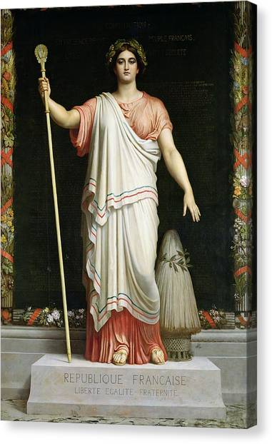 Fraternity Canvas Print - Allegory Of The Republic, 1848 Oil On Canvas by Dominique Louis Papety