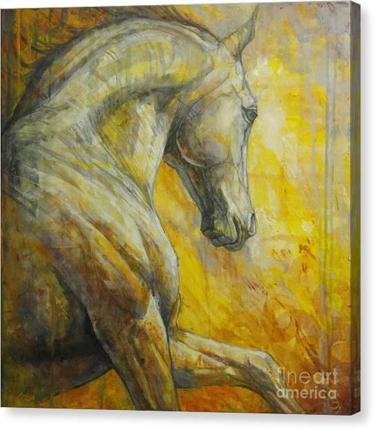 Horses Galloping Canvas Print - Allegro by Silvana Gabudean Dobre