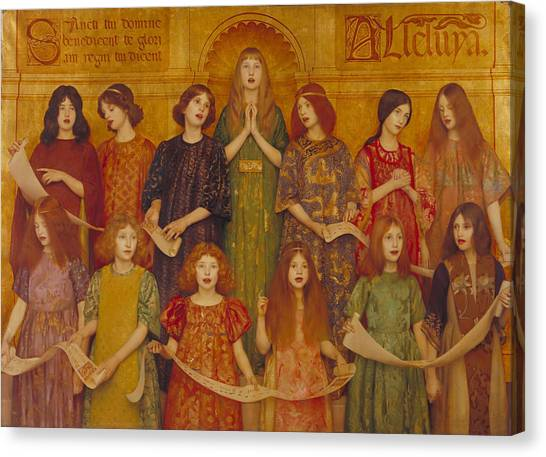 Canvas Print featuring the painting Alleluia by Thomas Cooper Gotch