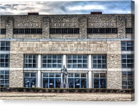 Big Xii Canvas Print - Allen Field House by Corey Cassaw