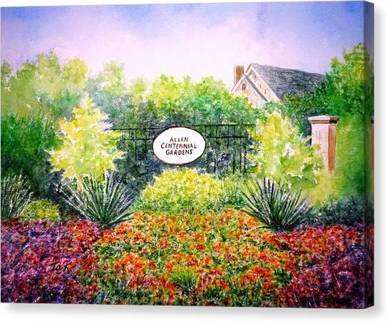 University Of Wisconsin - Madison Canvas Print - Allen Gardens by Thomas Kuchenbecker