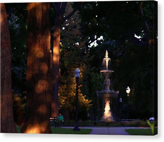 Allentown Pa Dusk At West Park Canvas Print