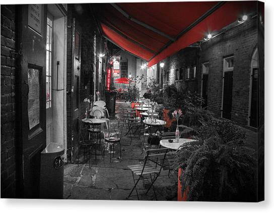 Alley Cafe Canvas Print