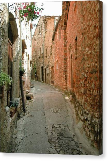 Alley In Tourrette-sur-loup Canvas Print