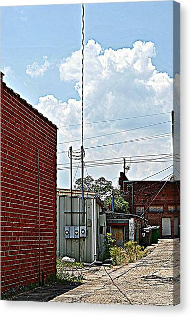 Alleyway Canvas Print by Beverly Hammond