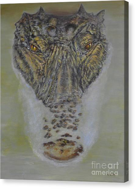University Of Florida Canvas Print - Alligator Alert by Nancy Lauby