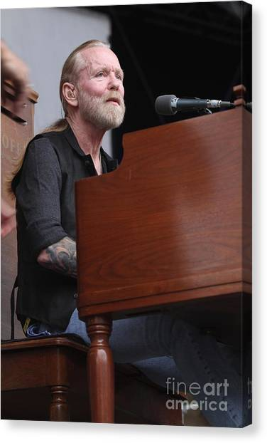 The Allman Brothers Band Canvas Print - Allman Brothers Band - Gregg Allman by Concert Photos