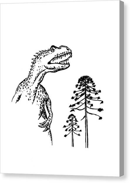 Allosaurus Canvas Print by Richard Bizley