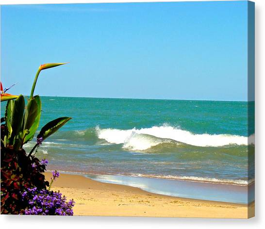 Allow Yourself To Imagine At A Beach Canvas Print