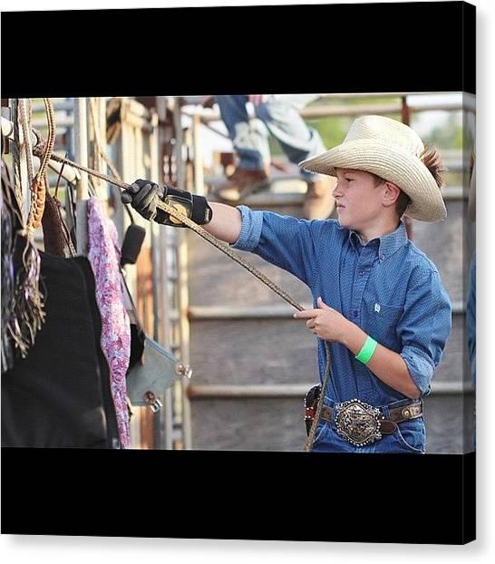 Rodeos Canvas Print - #all_shots #bullrope #bullrider by Lisa Yow