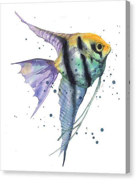 Fish Canvas Print - Alluring Angelfish by Alison Fennell