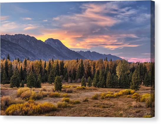 Teton Canvas Print - Alluring Conclusion by Mark Kiver