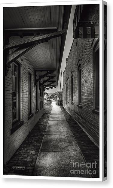 Overhang Canvas Print - Alley To The Trains by Marvin Spates