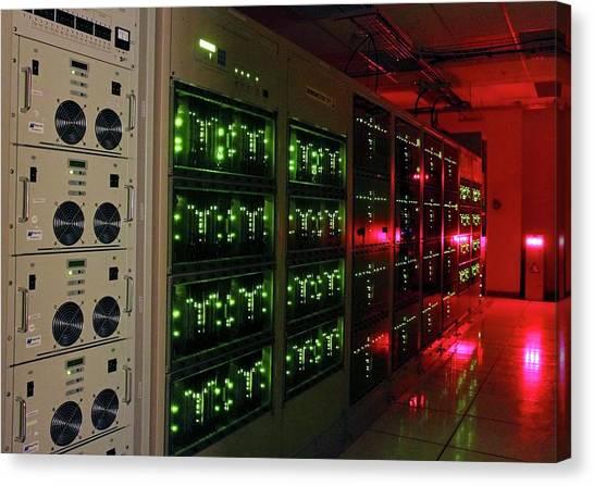 Atacama Desert Canvas Print - Alma Correlator Supercomputer by Alma (eso/naoj/nrao), S. Argandona