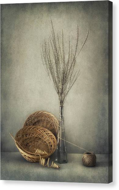 Basket Canvas Print - Almost Autumn... by Dimitar Lazarov -