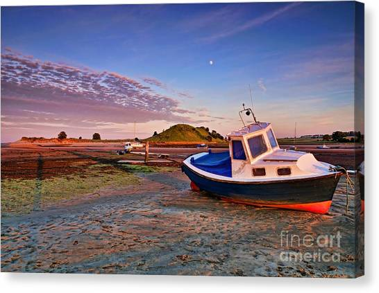 Alnmouth At Sunset Canvas Print