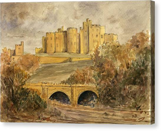 Castle Canvas Print - Alnwick Castle by Juan  Bosco