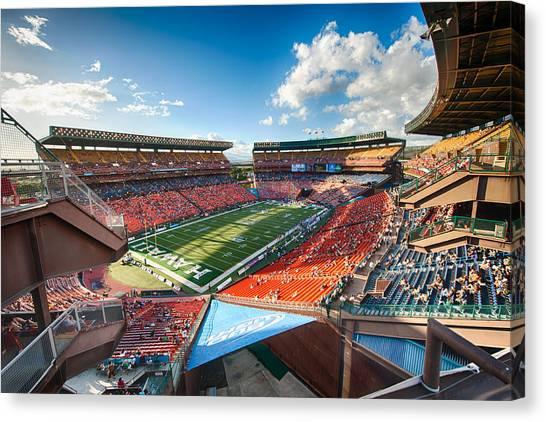 University Of Hawaii Canvas Print - Aloha Stadium #2 by Dan McManus