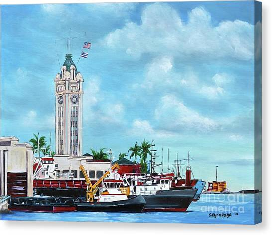 Aloha Tower Canvas Print