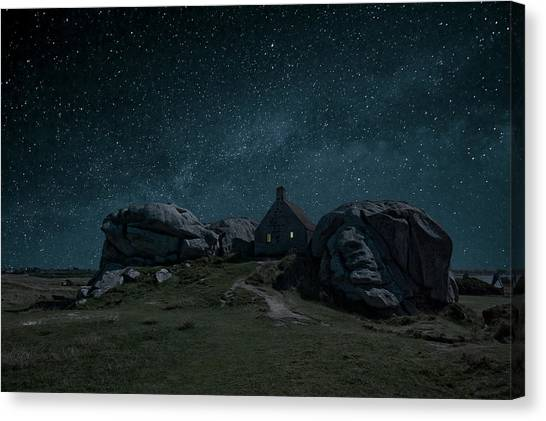 Boulder Canvas Print - Alone by