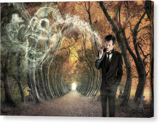 Tunnels Canvas Print - Alone by Christophe Kiciak
