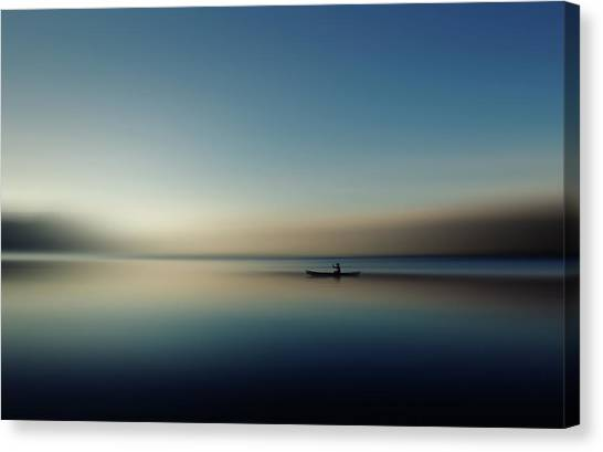 Canoes Canvas Print - Alone In Somewhere by Cie Shin
