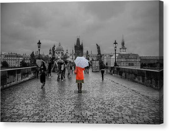 Alone In The Crowd Canvas Print