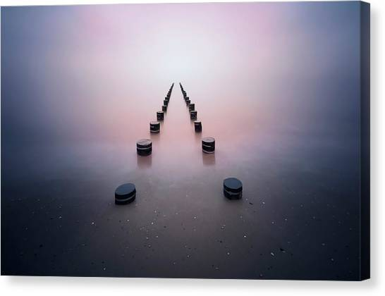 Pier Canvas Print - Alone In The Silence by Srecko Jubic