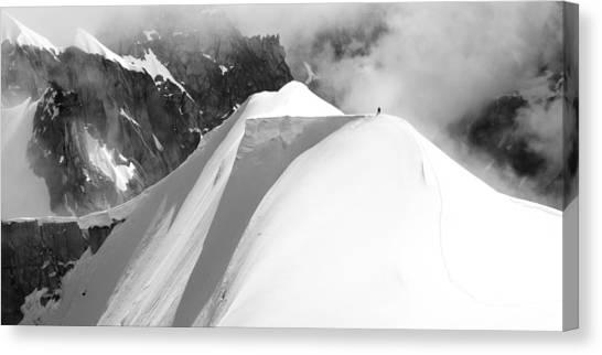 Alps Canvas Print - Alone by Matej Sokol