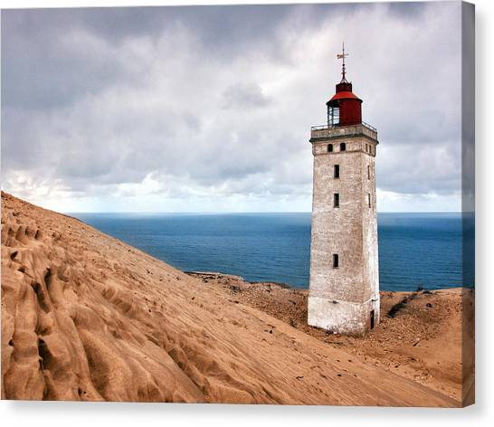 Lighthouse On The Sand Hils Canvas Print