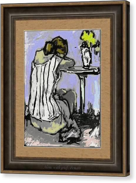 Alone With Grief Awg2 Canvas Print