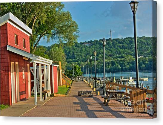 Along The Boardwalk Canvas Print
