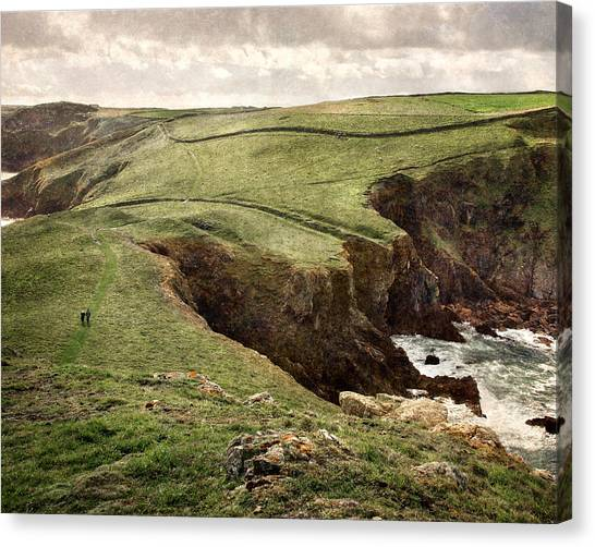 Along The Coast Path Canvas Print