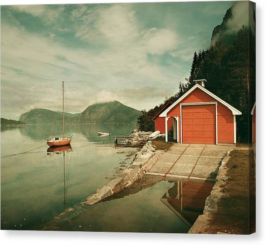 Along The Fjord Canvas Print
