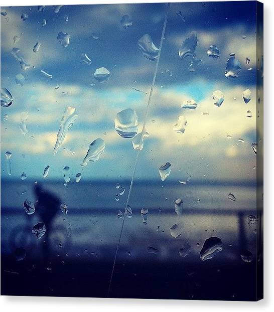 Biker Canvas Print - Along The Lakeshore After A Storm by Jill Tuinier