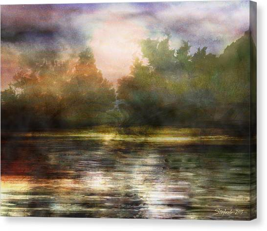 Along The Riverside Canvas Print