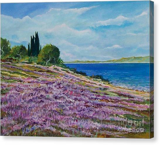 Along The Shore Canvas Print by Sinisa Saratlic