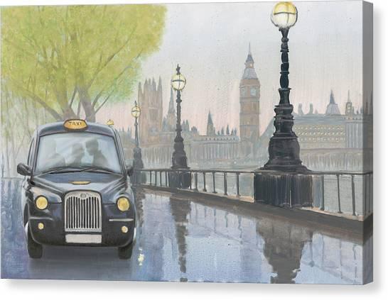 Big Ben Canvas Print - Along The Thames V.2 by Myles Sullivan