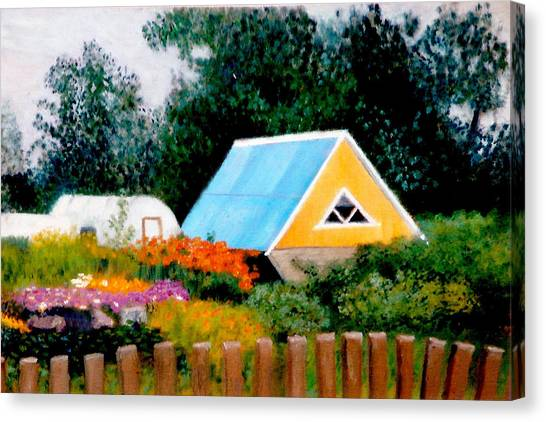 Along The Volga  Winner Art Quenchgallery.com Summer International Juried  Art Competition Canvas Print by Brent  Harris