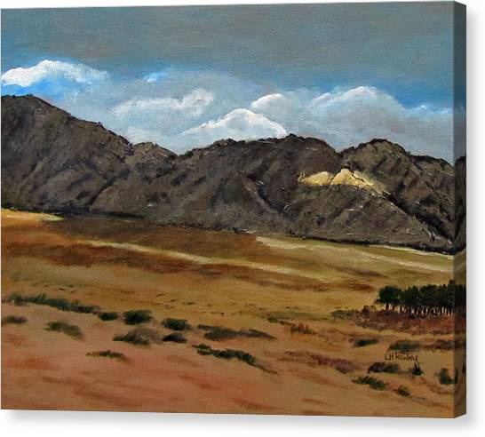 Canvas Print featuring the painting Along The Way To Eilat by Linda Feinberg