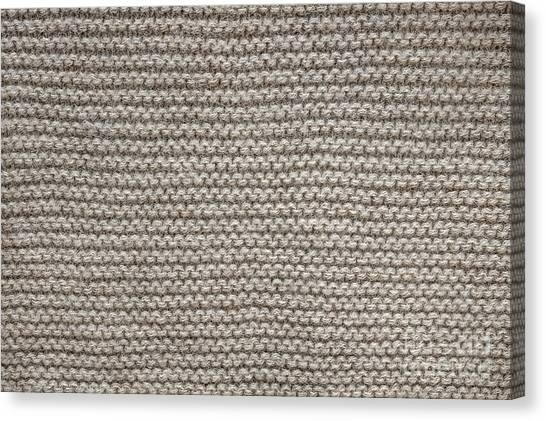 Alpacas Canvas Print - Alpaca Wool Knit Texture by Elena Elisseeva