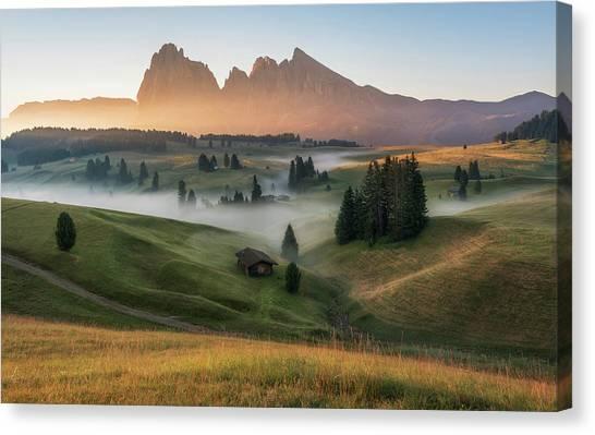 Dolomites Canvas Print - Alpe Di Siusi by Ales Krivec