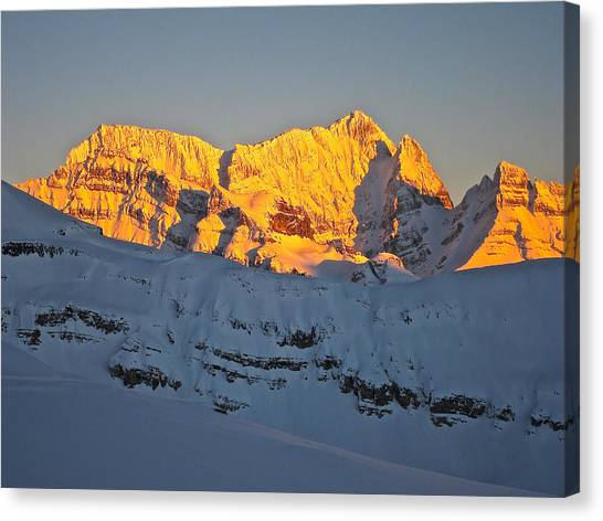 Alpenglow In Canada Canvas Print