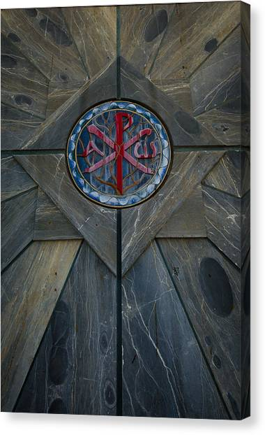 Alpha And Omega Chi Rho Canvas Print