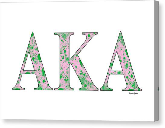 Alpha Kappa Alpha Canvas Print - Alpha Kappa Alpha - White by Stephen Younts