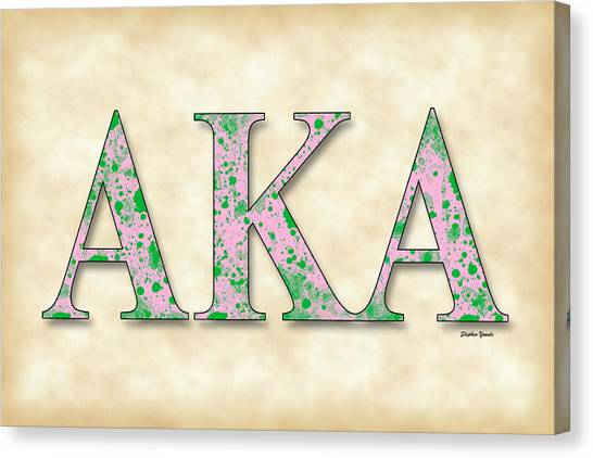 Alpha Kappa Alpha Canvas Print - Alpha Kappa Alpha - Parchment by Stephen Younts