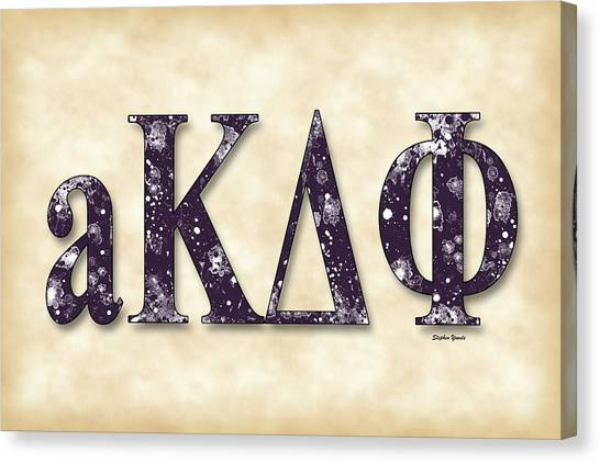 Alpha Kappa Alpha Canvas Print - alpha Kappa Delta Phi - Parchment by Stephen Younts