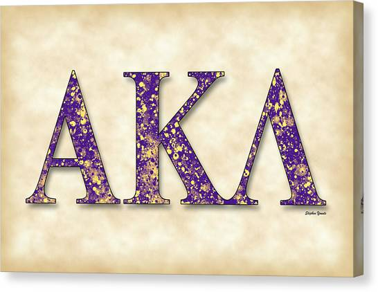 Alpha Kappa Alpha Canvas Print - Alpha Kappa Lambda - Parchment by Stephen Younts